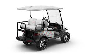 2020 Club Car Onward Vineyard Vines Special Edition Electric Golf Cart - 4 Passenger