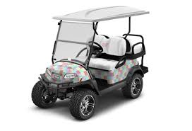 2020 Club Car Onward Vineyard Vines Special Edition Electric Golf Cart - 4 Passenger