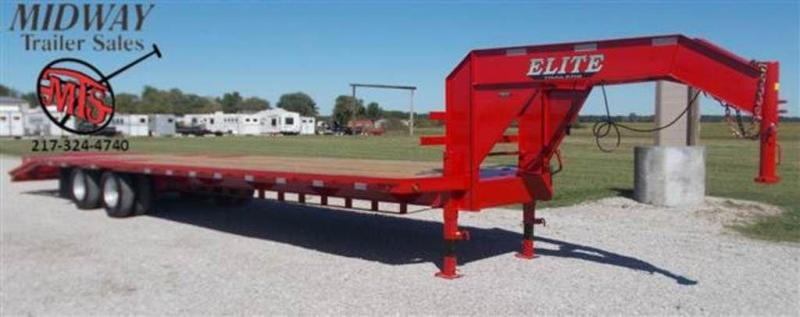 "2019 Elite Trailers 102"" x 35' (30+5) GN Tandem Dual Flatbed Trailer"