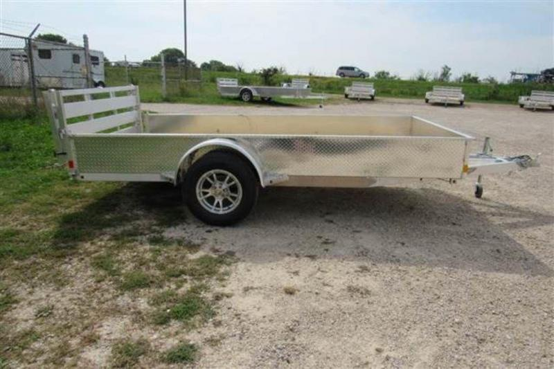 "2020 H and H Trailers 76"" x 10' SS Single Axle Aluminum Utiltiy Trailer"