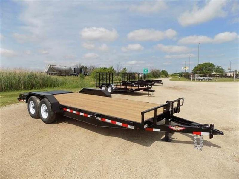 2018 H and H Trailers 8.5 x 20 (16+4) HD Flatbed Trailer