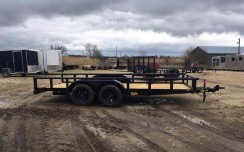 "2019 Big Tex Trailers 83"" x 16' Tandem Axle Pipe Top Utility Trailer"