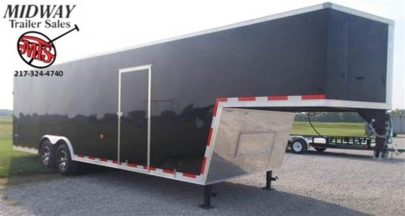 2020 Look Trailers Vision 8.5 x 32 Gooseneck Flat Top Enclosed Cargo Trailer