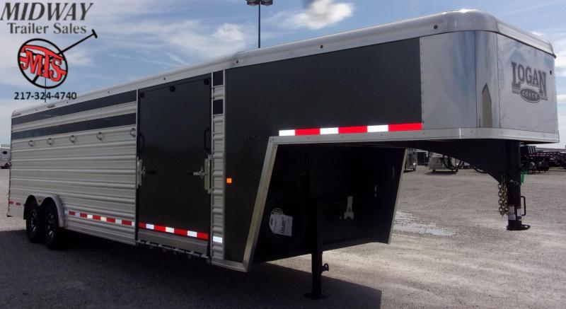 2020 Logan Coach Stockman 8' X 7' X 24' GN Horse Trailer