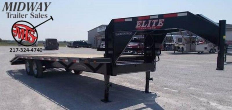 "2018 Elite Trailers 102"" x 25' (20+5) GN SW Flatbed Trailer"