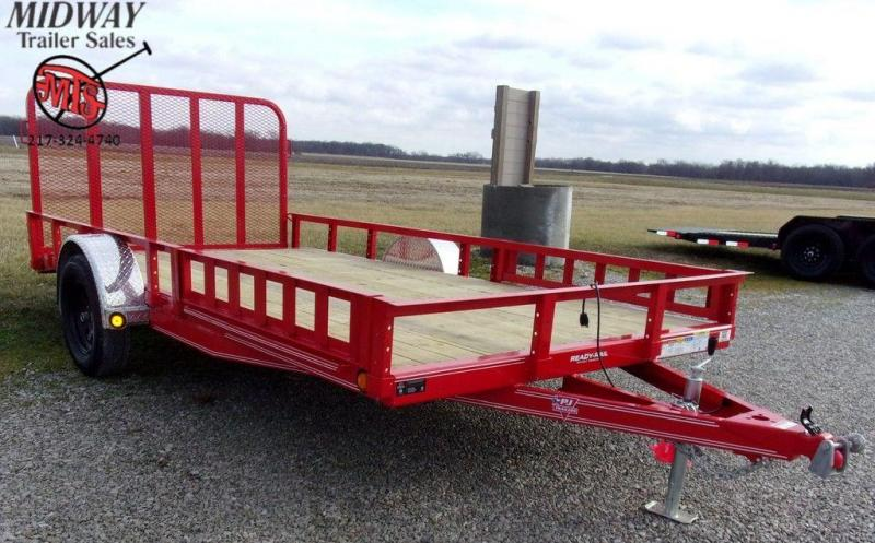 "2020 PJ Trailers 83"" x 14' Single Axle Channel Utilty Trailer w/ ATV Ramps"