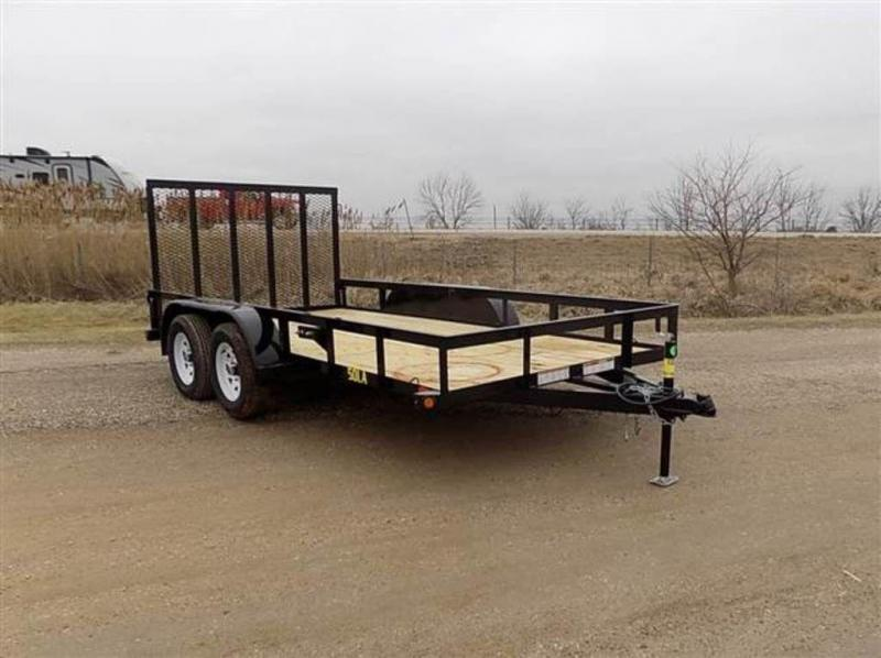 "2018 Big Tex Trailers 77"" x 14' Tandem Axle Utility Trailer"