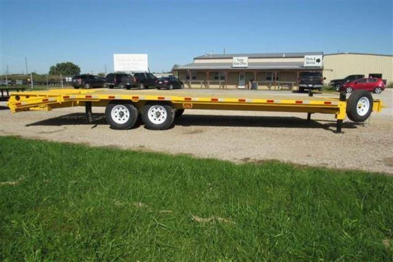 """2020 H and H Trailers 82"""" x 25' Deckover Bobcat Trailer"""