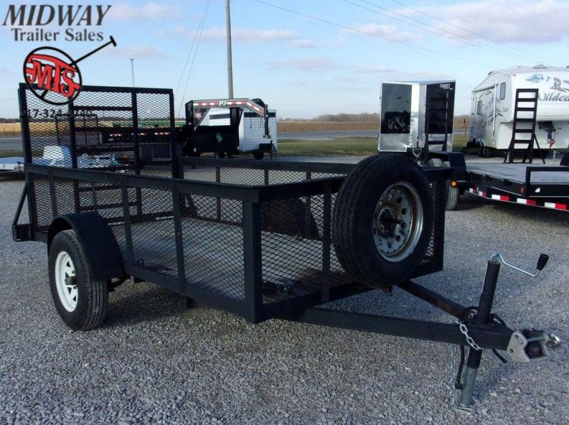 2007 Homemade 5' X 10' Single Axle Utility Trailer