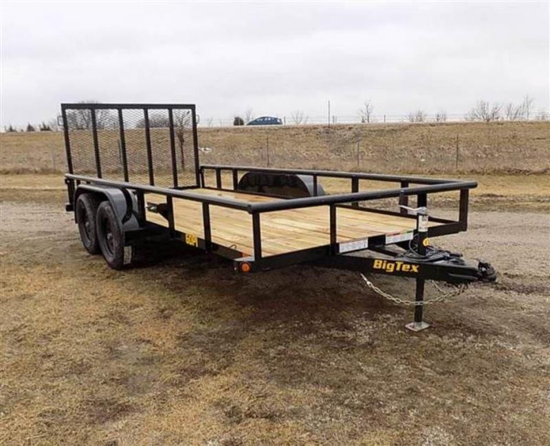 "2019 Big Tex Trailers 77"" x 16' Tandem Axle Pipe Top Utility Trailer"
