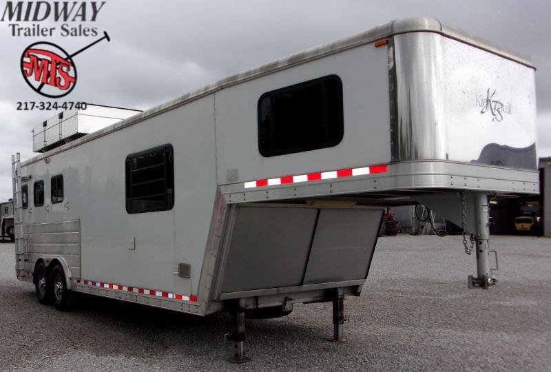 2007 Kiefer Built Genesis X8083 3H w/ 9' SW LQ Horse Trailer