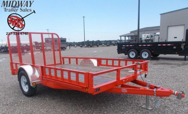 "2020 PJ Trailers 77"" x 12' (10+2) Single Axle Channel Utilty Trailer w/ ATV Ramps"