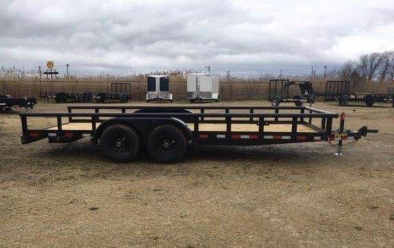 "2019 Big Tex Trailers 84"" x 18' Tandem Axle Pipe Top Utility Trailer"