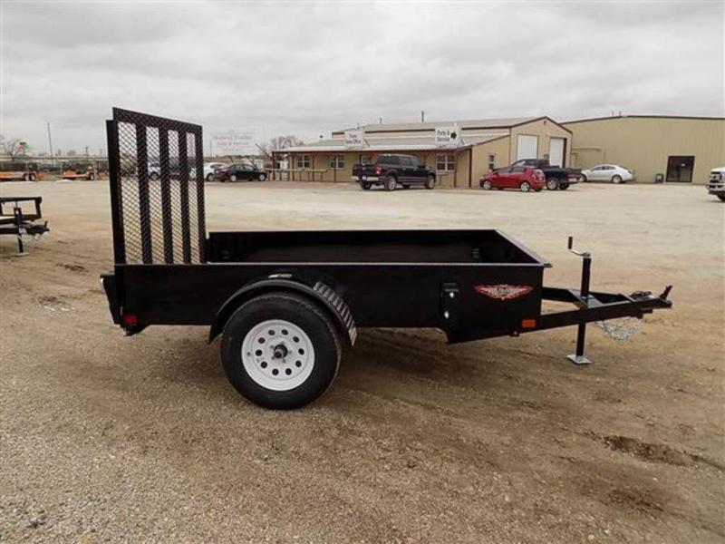 """2019 H and H Trailers 60"""" x 8' RS Single Axle Utiltiy Trailer"""