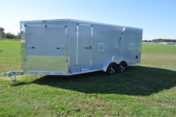 2020 Haul-it 7.5 x 23 All Aluminum Enclosed Snowmobile Trailer W/7' Interior for Sale