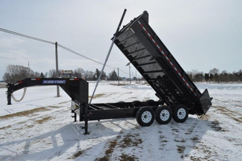 "2020 Sure-Trac 82"" x 16' Low Profile Telescopic 21K GooseneckDump Trailer For Sale"