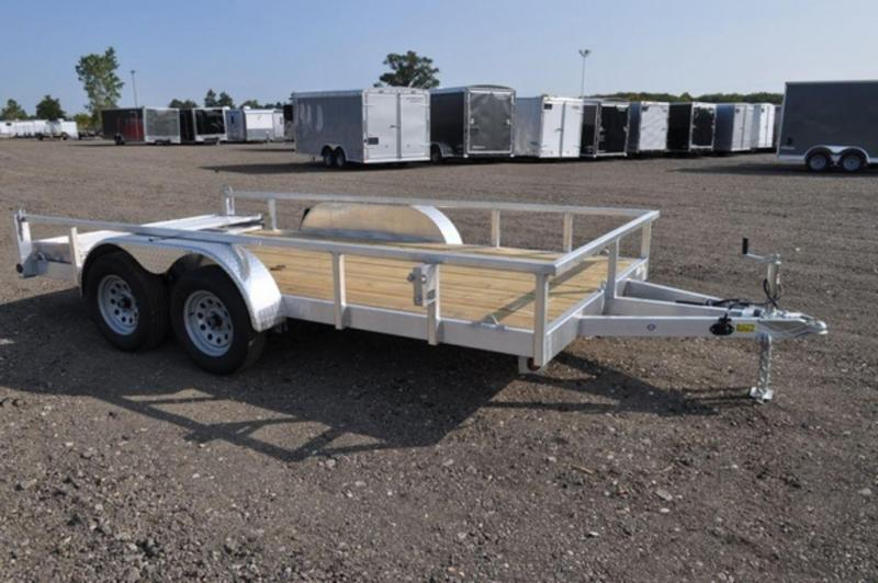 "2020 All Aluminum 80"" x 14' Tandem Axle Tube Top Utility Utility Trailer For Sale"