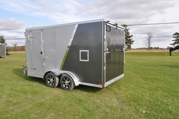 2020 Haul-it 7.5 x 19 All Aluminum 7FT Tall Snowmobile Trailer For Sale