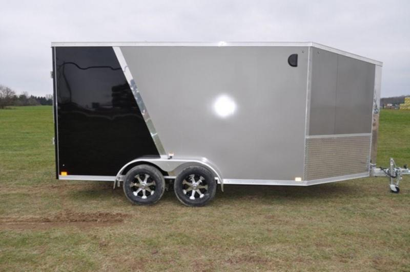 2019 Haul-It 7 x 19 All Aluminum Snowmobile Trailer w/ 7' Interior For Sale