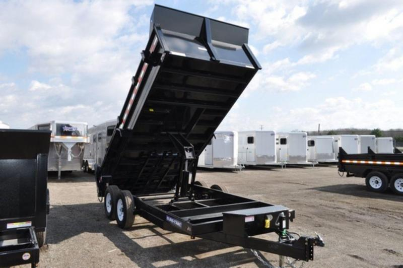 "2018 Sure-Trac 82"" x 16' Low Pro Scissor Dump Trailer"