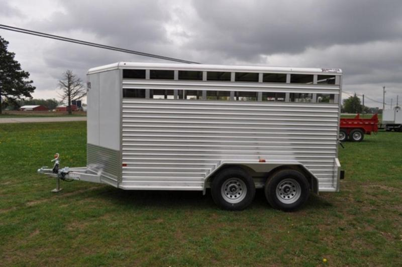 2018 Frontier 7 x 14 All Aluminum Livestock Trailer for Sale