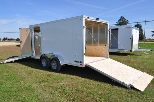 2020 Haul-it 7 x 19 All Aluminum Enclosed Snowmobile Trailer For Sale
