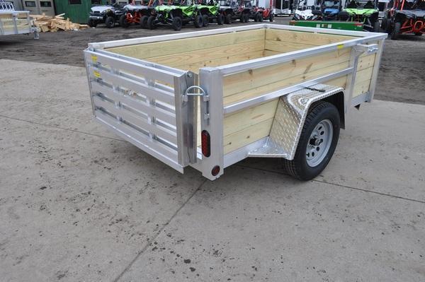 2021 Haul-it All Aluminum 5 x 8 Open 4 Board High Utility Trailer For Sale