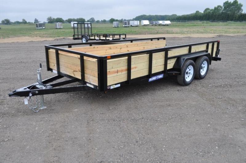 2019 Sure-Trac 7 x 16 Tandem Axle 3 Board High Utility Trailer For Sale