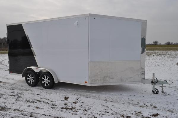 2020 Haul-it All Aluminum 7.5 x 19 Enclosed 7' Tall Snowmobile Trailer For Sale