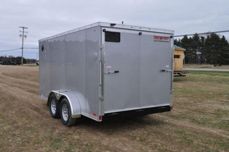 2020 Discovery 7 x 14 Enclosed Cargo Trailer w/ Wedge Nose For Sale