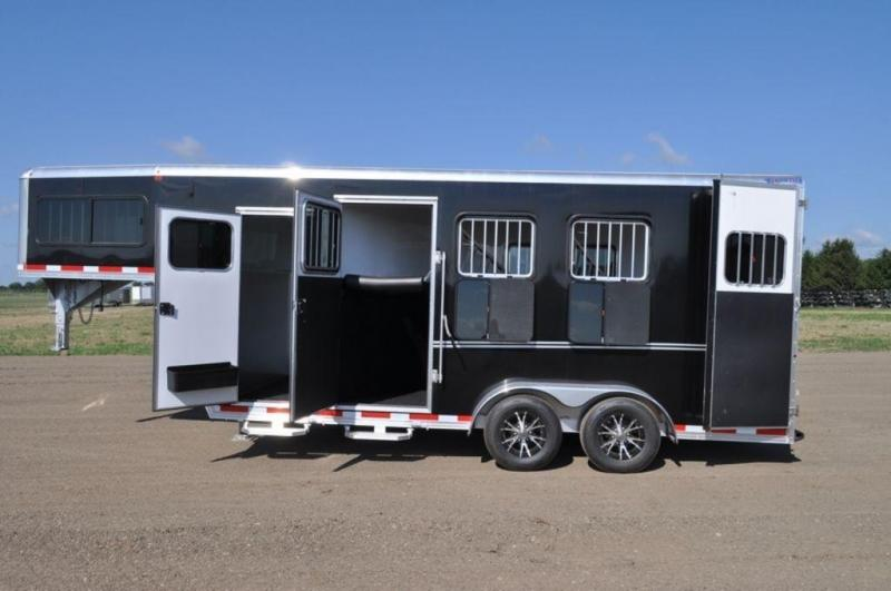 2017 Frontier 3 Horse Slant All Aluminum Gooseneck Trailer For Sale