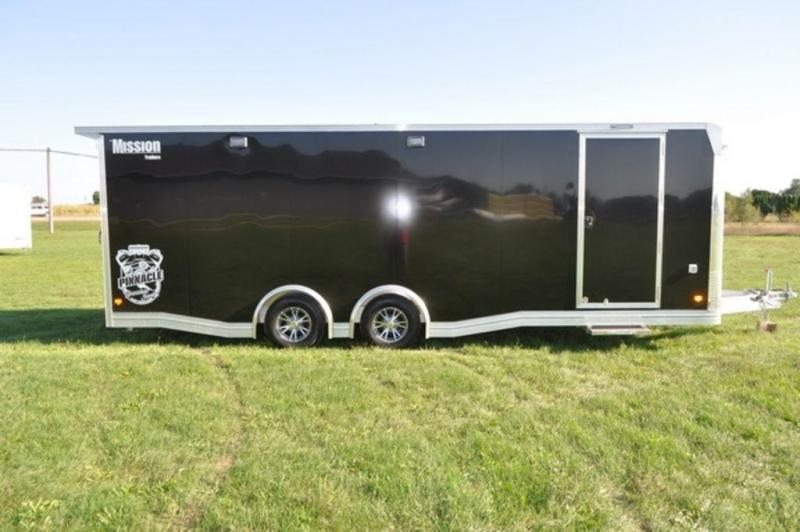 2019 All Aluminum Enclosed 8.5 x 24 Loaded Car Trailer For Sale