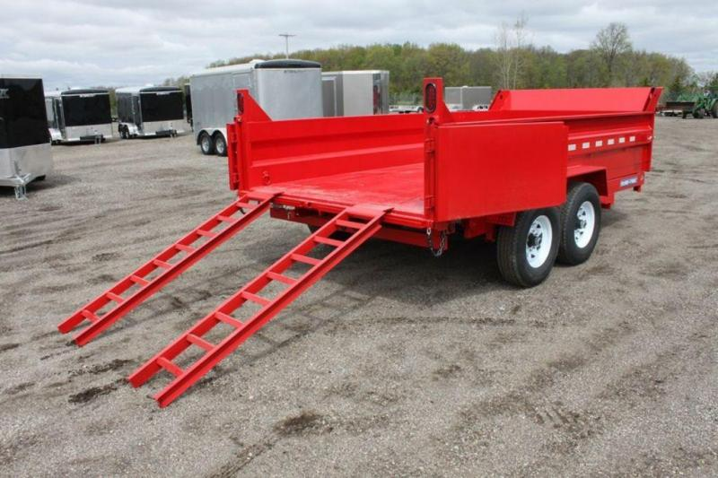 2019 Sure-Trac 82 x 14 Red Hydraulic Dump Trailer For Sale