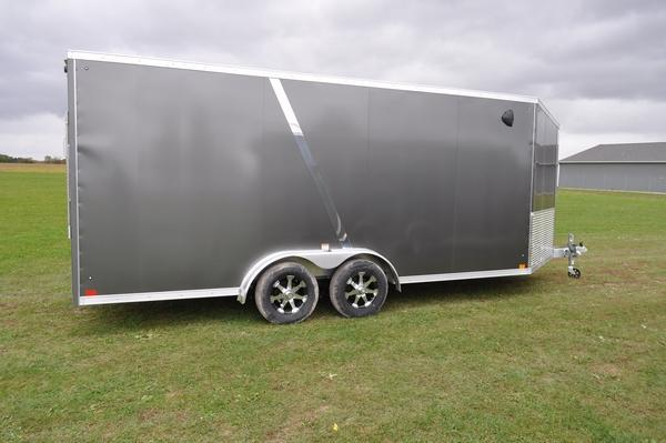 2020 Haul-it All Aluminum 7.5 x 23 Enclosed 7 FT Tall Snowmobile Trailer For Sale