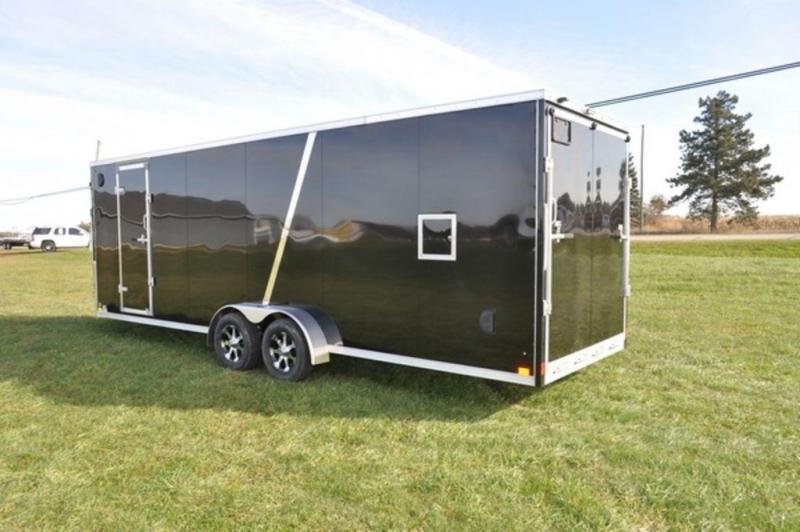 2019 Haul-It 7 x 29 Inline All Aluminum Snowmobile Trailer w/ 7' interior For Sale