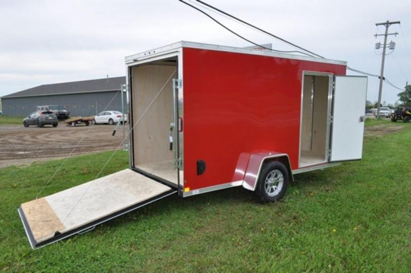 2019 Haul-It 6 x 12 Red Enclosed Cargo Trailer For Sale