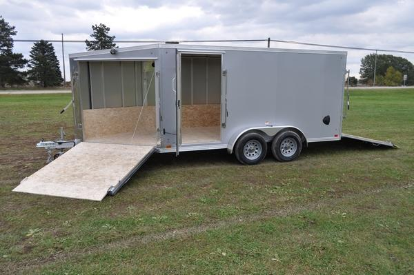 2020 Haul-it All Aluminum 7 x 19 Inline Snowmobile Trailer For Sale