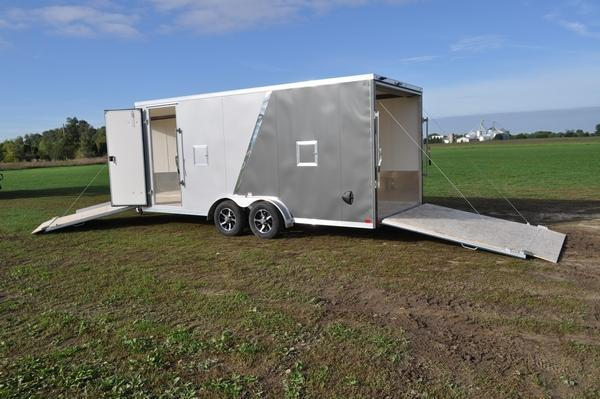 2020 Haul-it All Aluminum 7.5 x 23 Inline Snowmobile Trailer For Sale