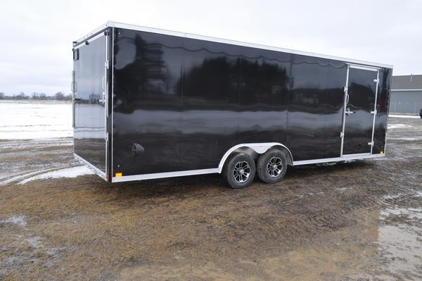 2020 Haul-it All Aluminum 8.5 x 24 Wedge Nose Car / Racing Trailer For Sale