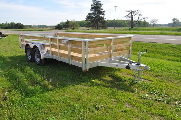 2021 Haul-it All Aluminum 80 x 16 Tandem Axle 3 Board Utility Trailer For Sale