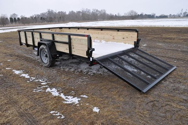 2020 Sure-Trac 7 x 14 Single Axle 3 Board 5K Open Utility Trailer For Sale