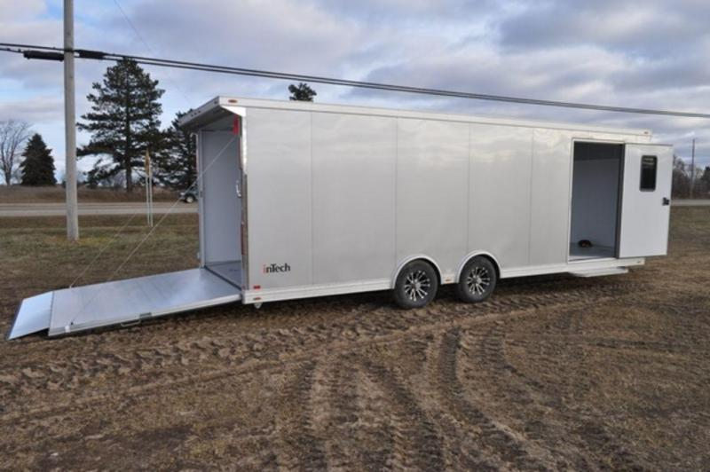 2019 InTech All Aluminum 8.5 x 26 Wedge Nose Enclosed Car Trailer For Sale