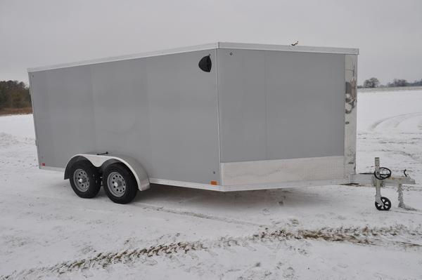 2020 Haul-it 7 x 19 All Aluminum 2 Place Snowmobile Trailer For Sale