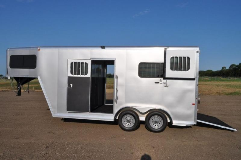 2017 Frontier 2 Horse Ambassador All Aluminum Gooseneck Trailer For Sale