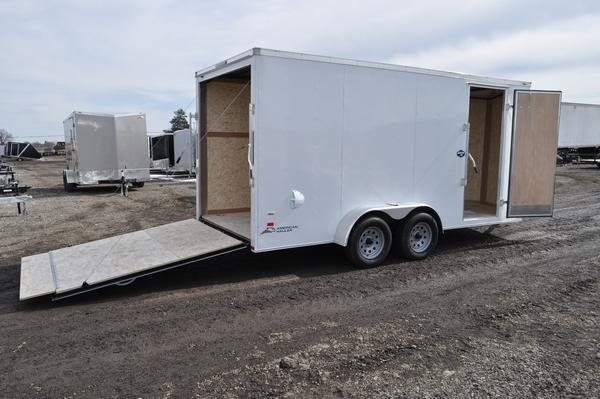 2020 American Hauler 7 x 16 Wedge Nose Enclosed Cargo Trailer For Sale