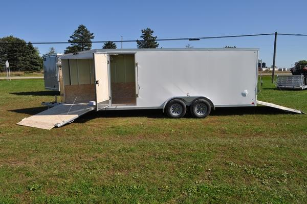 2020 Haul-it 7 x 23 All Aluminum Inline Snowmobile Trailer for Sale