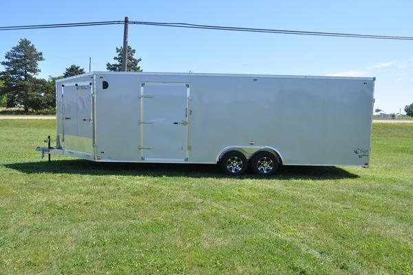 2020 Stealth Trailers 8.5 24 + 5 Combo Trailer Snowmobile Trailer For Sale