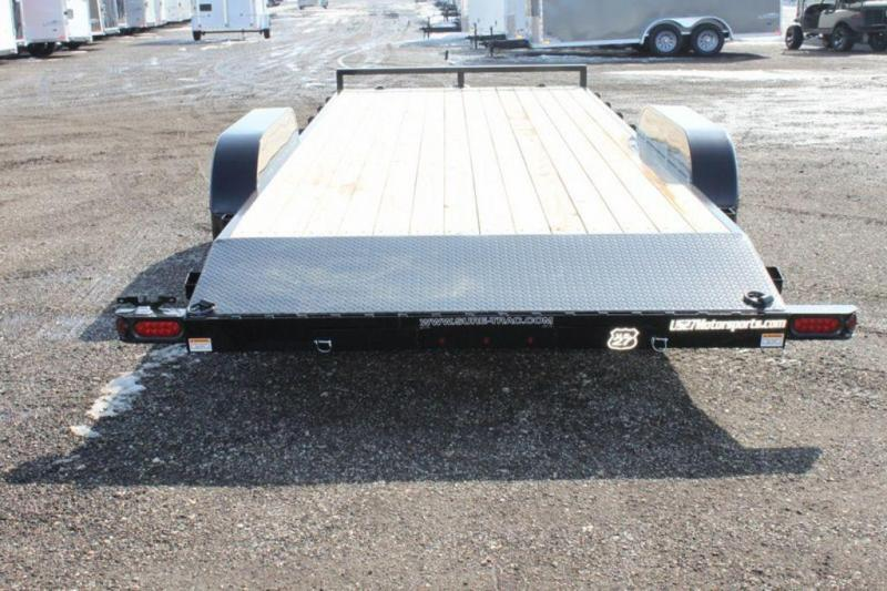 2019 Sure-Trac Open Powder Coated 20' Wood Deck Car Trailer For Sale