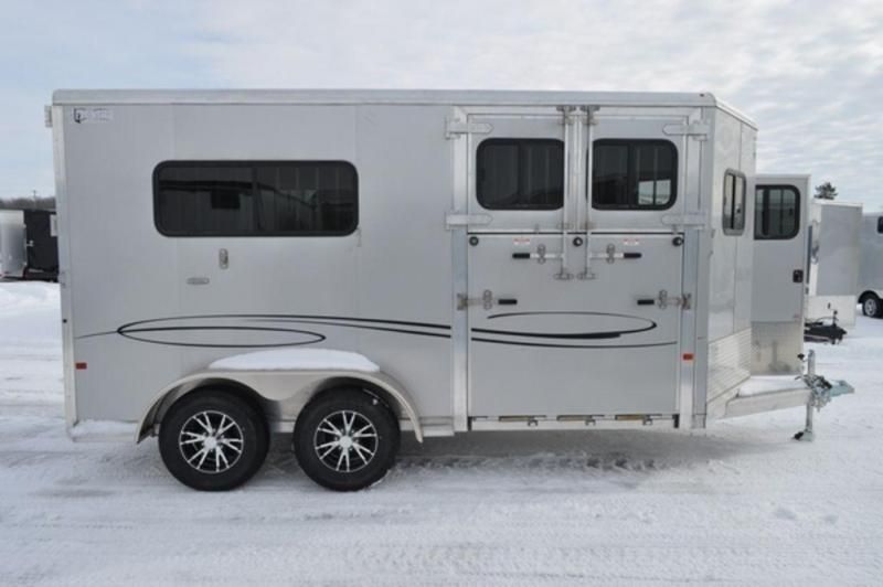 2019 Frontier 2 Horse Straight Load All Aluminum Bumper Pull Trailer For Sale