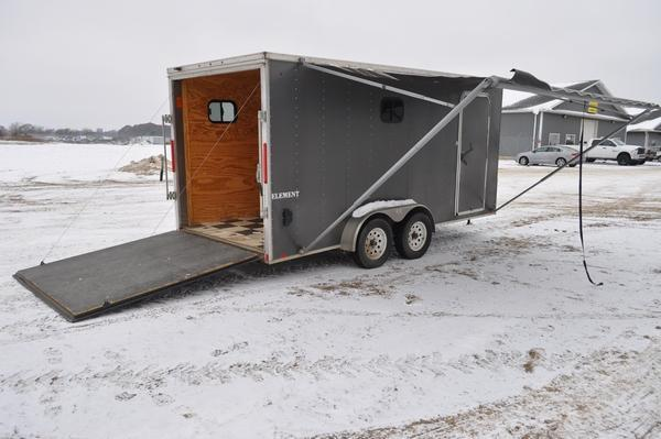 2014 Look Trailers 7 x 16 7ft Tall Enclosed Cargo Trailer For Sale
